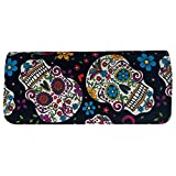 Day of the Dead Sugar Skulls Cloth Trifold Wallet Made in the USA