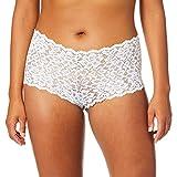 Maidenform Comfort Baúl de Encaje Casual y cómodo, Blanco/Blanca, L para Mujer