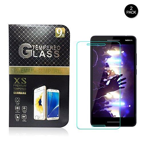 Vetro Temperato Nokia 2.1, [HD Alta Trasparenza,Anti-impronta] 2.5D Pellicola Protettiva in Vetro Temperato Screen Protector per Nokia 2.1[2-Pack]