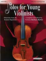 Solos for Young Violinists: Violin Part and Piano Part