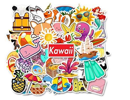 votgl stickers Kawaii Kleine Verse Cartoon Stickers Ocean Beach Series Sticker Op Laptop Koelkast Auto Motorfiets Speelgoed Graffiti 50 stks/partij