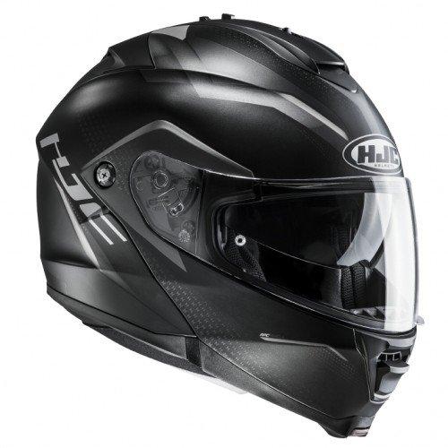 Casco de moto HJC IS Max II Dova MC5SF, negro/blanco, talla M