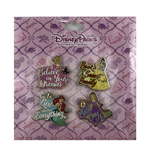 WDW Pin Set - Princesses with Quote Set