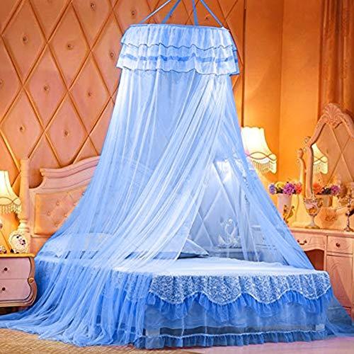 Moskitonetz Bett, BESTZY Groß Mückennetz inkl. Montagematerial, Betthimmel, Mückenschutz, MoskitoschutzF, Fliegennetz auch auf der Reise (Blau, 250 x 70 x 1050 cm)