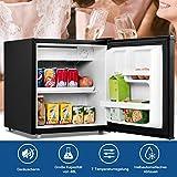 COSTWAY 48L Mini Kühlschrank Kühl-Gefrier-Kombination Flaschenkühlschrank Getränkekühlschrank mit Gefrierfach/wechselbarer Türanschlag / 7 Temperaturstufe einstellbar / 49cm Höhe (Schwarz) - 5