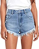 RVCA Junior's ELLE Denim Short, Stone, 26