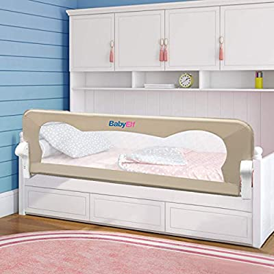 "BabyElf Bed Rail for Toddlers 47"" Swing Down Bedrail Guard"