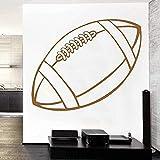 Autocollant mural vinyle série sport autocollant mural ballon de rugby Art Mural décoration de la maison autocollant mural activité intérieure autocollant mural 57X32Cm