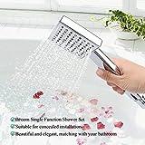 Shanghui1 Juego De Cabezal De Ducha De Agua De Lluvia Monofunción Oculto G1 / 2in para Calentador De Agua Doméstico