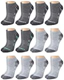 New Balance Women's Athletic Arch Compression Cushioned Low Cut Socks (12 Pack), Grey, Size Shoe Size: 4-10'
