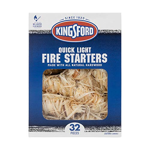 Kingsford Quick Light Fire Starters | Wooden Fire Starters Made with All Natural Hardwood for Grilling, Campfires, & Outdoor Fireplaces | 32 Count Fire Starter Rolls