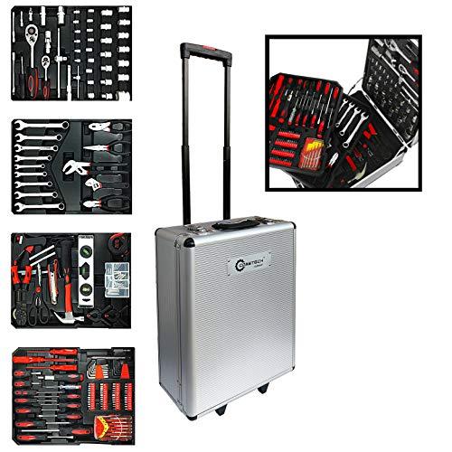 Coastech Werkzeugkoffer auf Rollen fahrbar, 1005-teilige Handwerkzeugsatz aus Chrom-Vanadium-Stahl,...