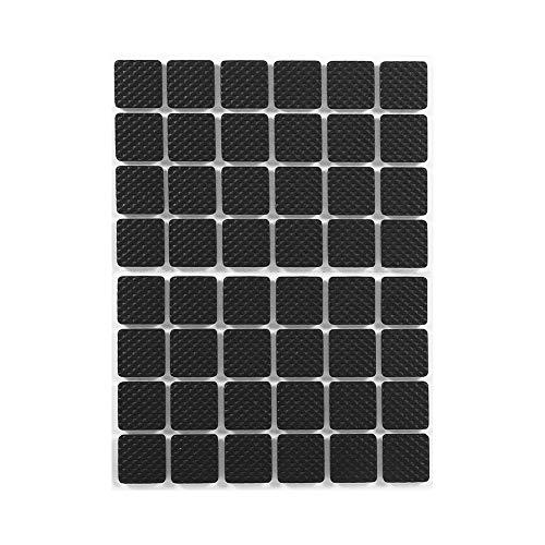 Cuque Bodenschutzpolster, 48 Stück Schwarz rutschfeste Selbstklebende Bodenschutzmöbel Möbel Sofa Tisch Stuhl Gummifußpolster