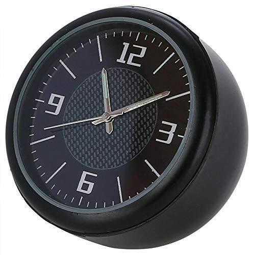 Maso - Orologio da cruscotto o bocchetta d aria, per auto classica, piccolo orologio rotondo al quarzo, decorazione per auto, colore: nero