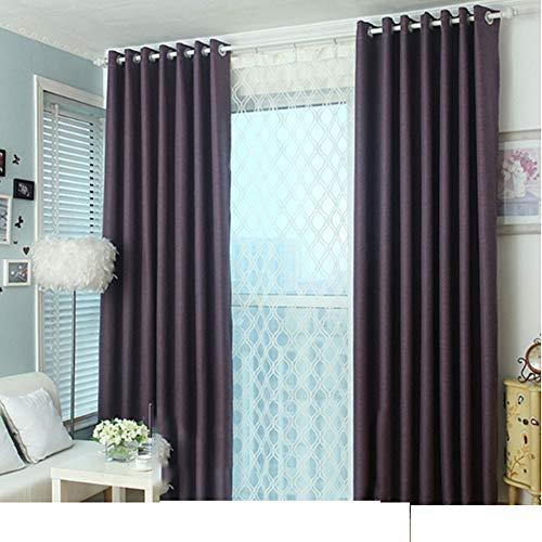 WYLYD Rideaux isolants perforés - Rideaux d'occultation Ultra Doux Rideaux de Salon de Soins de la fenêtre (2 * 165 * 246CM) Violet