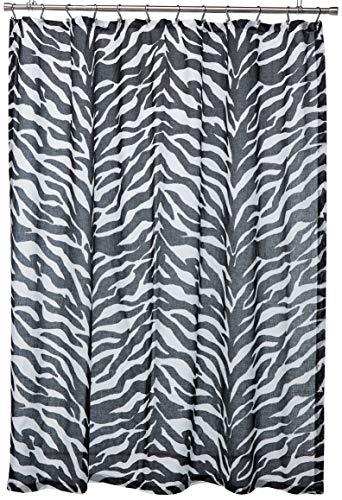 Bold Black and White Zebra Shower Curtain