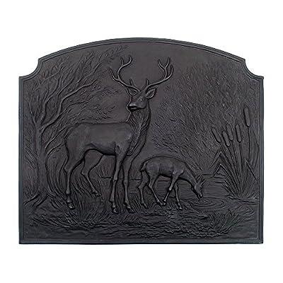 Minuteman International Deer Cast Iron Fireback by Minuteman International - ACHLA Designs