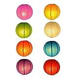 RETON 10 Stücke Papierlaternen Chinesische/Japanische Traditionelle Laternen Faltbare in Mehrere Farben für Party Garden Yard Home Weihnachtsdekoration