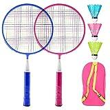 Juguetes de bádminton,Raquetas Badminton Niños,Set de Badminton,Juegos de bádminton para niños,Badminton niños,Juego de Raquetas de Bádminton para Niños,Raqueta de bádminton al Aire Libre (A)
