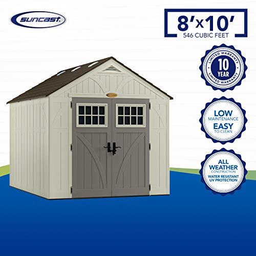 Suncast 8x10 Tremont Outdoor Storage Shed