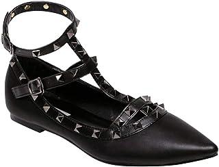enorme sconto 7305c c2a94 Amazon.it: scarpe con borchie - Ballerine / Scarpe da donna ...