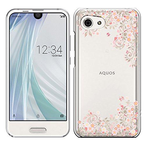 [Breeze-正規品] iPhone ・ スマホケース ポリカーボネイト [透明-Pink]アクオス アール コンパクト AQUOS R compact SHV41/SH-M06 AQUOS R compact ケース カバー 液晶保護フィルム付 全機種対応 [SHV41]