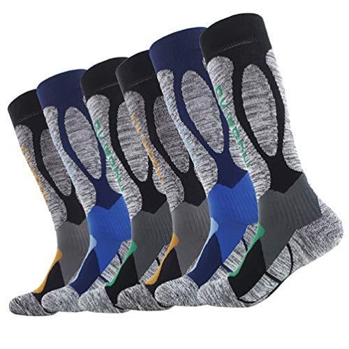 LIOOBO 3 Paar Sportsocken Absorption rutschfeste atmungsaktive Baumwollsocken Schuhe Strümpfe für Basketball Klettern Outdoor-Sportarten