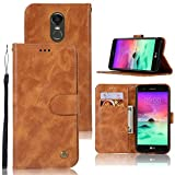 LG Stylo 3 Case, LG Stylo 3 Plus Case, Zoeirc Hybrid PU Leather Drop Protection Folding Folio Style Wallet Slots to Hold Cards Stand Pouch Flip Case for LG Stylo 3/LG Stylo 3 Plus (Gold)