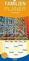 Abstrakt - Familienplaner hoch (Wandkalender 2022 , 21 cm x 45 cm, hoch): Haeuser-Kubismus (Monatskalender, 14 Seiten )