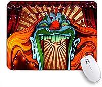 MISCERY マウスパッド ホラーサーカスカーニバルテーマハロウィーンイブ写真背景 高級感 おしゃれ 防水 端ステッチ 耐久性が良い 滑らかな表面 滑り止めゴム底 24cmx20cm