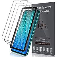 LK [3-Pack Protector de Pantalla para Xiaomi Redmi Note 8 Pro Cristal Templado, [9H Dureza] [Equipado con Marco de posicionamiento] Vidrio Templado Protector Pantalla para Redmi Note 8 Pro
