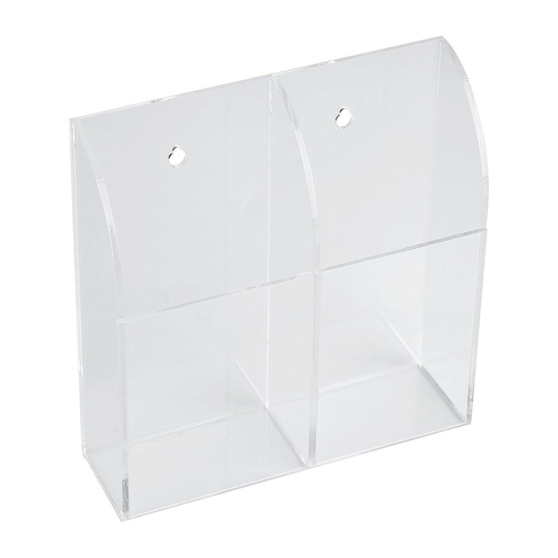リモートコントロールホルダー リモコンラック アクリルリモコンホルダー エアコンリモコンホルダーケース アクリルウォールマウント ストレージボックス 卓上 小物 収納 化粧品(2ケース)