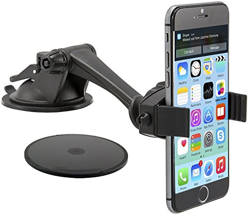 Arkon Car Mount Phone Holder for iPhone X iPhone 8 7 6S Plus 8 7 6S Galaxy S8 S7 Note 8 7 Retail Black