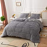 Smoofy Faux Fur Comforter, Fluffy Bedding, Plush...