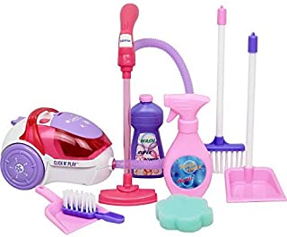 Click N' Play Toy Realistic Vacuum Cleaner, and House Keeping 8 Piece Play Set with Accessories - Perfect for 18 inch American Girl Dolls