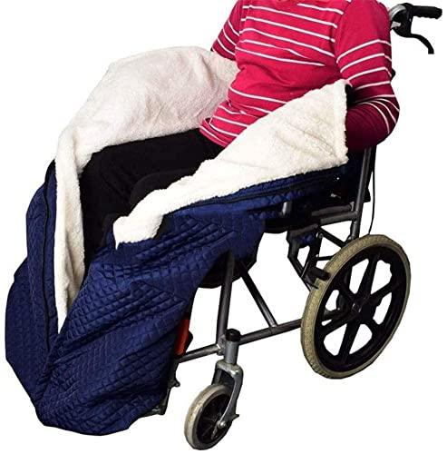 YYBBJH Rollstuhldecke Winter, Fußsack, Rollstuhl-Decke mit Zipper, Cashmere-Gefüttert & Wasserdicht, Universal fit für manuell und elektrisch betriebene Rollstühle, maschinenwaschbar