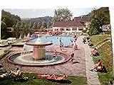 Ausflugslokal Talsperre Diepental. Leichlingen. AK farbig, ungel., ca 70/80ger Jahre ?, Gebäudeansicht, Liegewiese mit Swimmingpool und Badegästen, Wohnwagen.