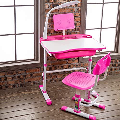 Yinleader Kinderschreibtisch-Stuhlset, ergonomischer rosa Kinderschreibtischstuhl Höhenverstellbarer multifunktionaler…