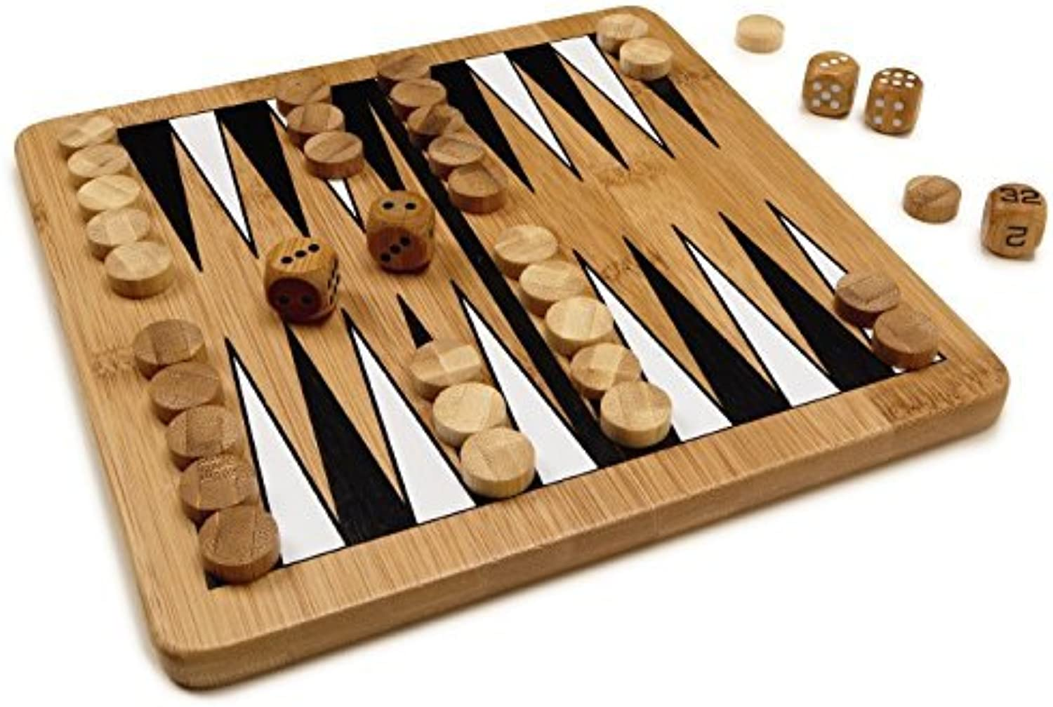 Bamboo Classics EcoFriendly Backgammon Board Game by Perfect Solutions