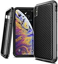 X-Doria Defense Lux, Compatible with Apple iPhone Xs Max - Military Grade Drop Tested, Anodized Aluminum, TPU, and Polycarbonate Protective Case for Apple iPhone Xs Max, Black Carbon Fiber