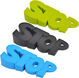 UCEC Door Stopper Home Decorative Door Stopper, 3 Pack Premium Rubber Door Stopper Doorstops Wedge Cute Door Stopper Doorstops Wedge Security Doorstop