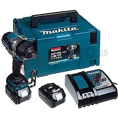 Makita DTW1001RTJ Brushless - Llave de impacto 1050Nm, inserción 3/4', 2 baterías de 18V, 5.0 Ah Li-ion