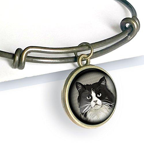 Reservation Fat Black and White Charm Cat Cheap bargain Bracelet