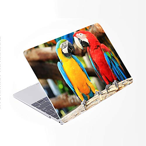 SDH for MacBook Pro 15 inch Case with CD-ROM 2010-2012 Released, Plastic Pattern Cover Hard Protective Shell & Keyboard Cover Only Compatible for Mac Pro 15 inch Model A1286, Cute Parrot 6