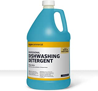 AmazonCommercial Professional Dishwashing Detergent, Spring Fresh, 1-Gallon, 2-Pack