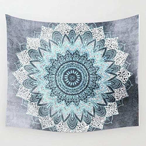 AdoDecor Gobelin Bohochic Mandala Blau Tagesdecke Tagesdecke Decke Blatt 150x200cm/79 * 59inches