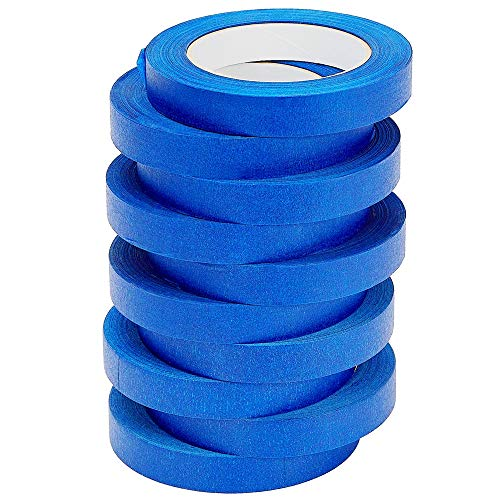 LICHAMP 10 Pack Blue Painters Tape 3/4 inch, Blue...