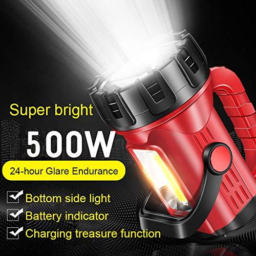 STHfficial USB oplaadbare zaklamp voor het opladen van 2000 superheldere draagbare xenon multifunctionele koplampen met groot bereik voor camping in de buitenlucht