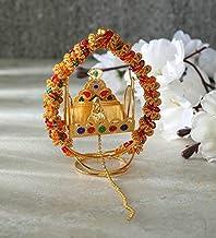 Itiha Gajra balgopal or Laddu Gopal jhula Swing for Home Temple mandir or car Dashboard showpiece - 8 cm L 10 cm H