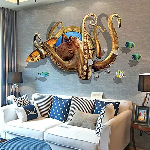 Oktopus Wandaufkleber Schlafsaal Zimmer Nachtschlafzimmer Schlafzimmer Wand Selbstklebende Poster Dekorative Tapete